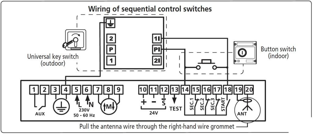 wiring sequential control EN