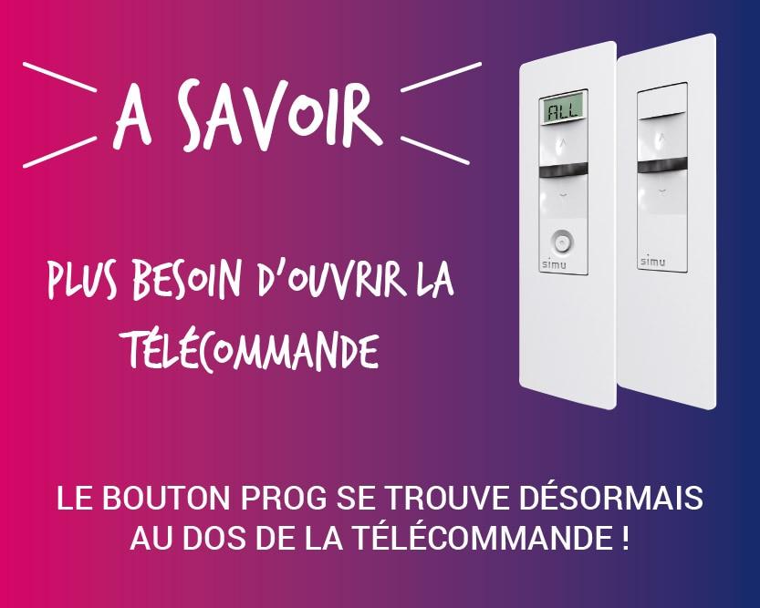 Le bouton PROG change de place sur nos télécommandes !